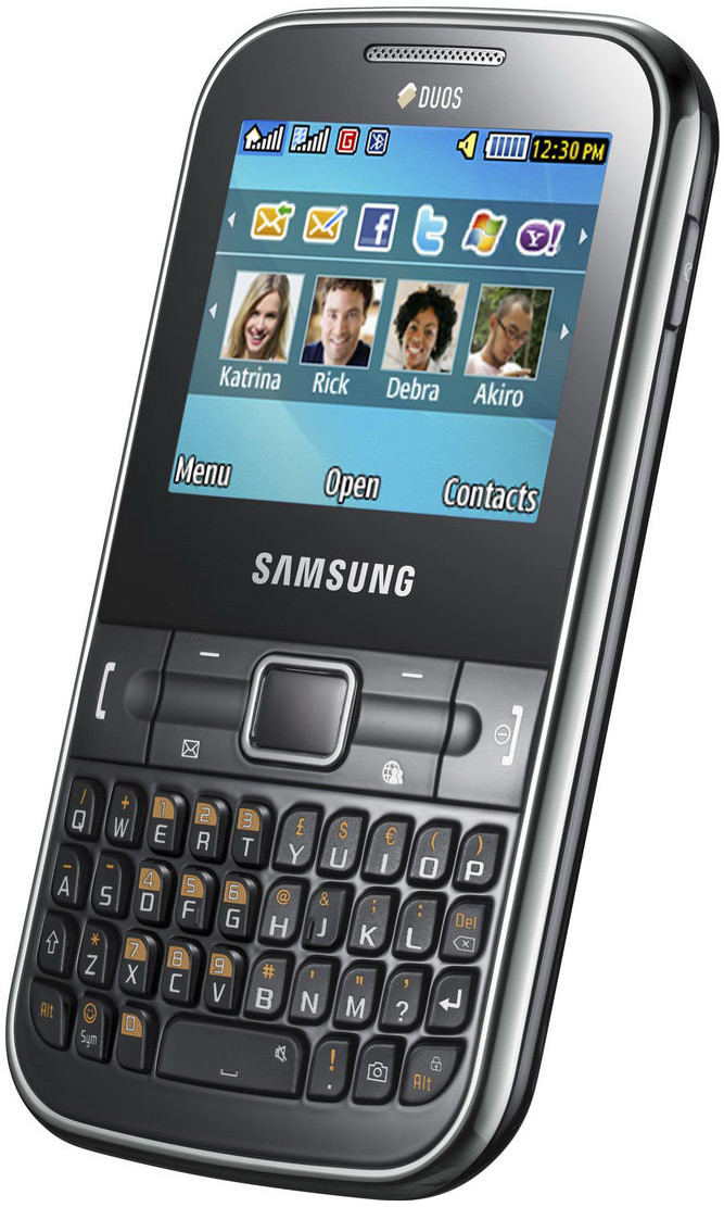 Samsung Ch@t 322 Noble Black