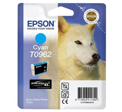 Epson T0962 Cyan Ink Cartridge (blauw) C13T09624010