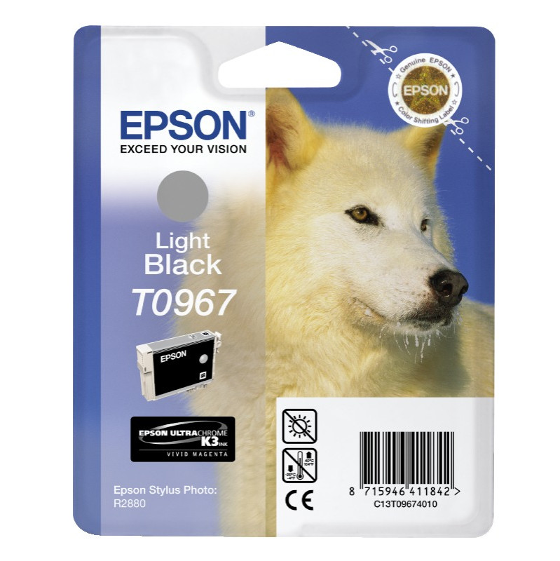 Epson T0967 Light Black Ink Cartridge (licht Zwart) C13t09674010