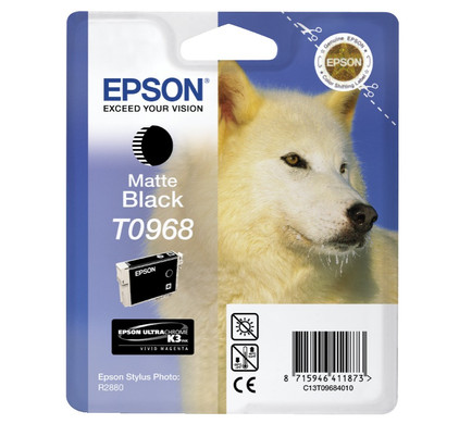 Epson T0968 Matte Black Ink Cartridge (mat zwart) C13T09684010