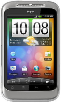 HTC Wildfire S Silver White