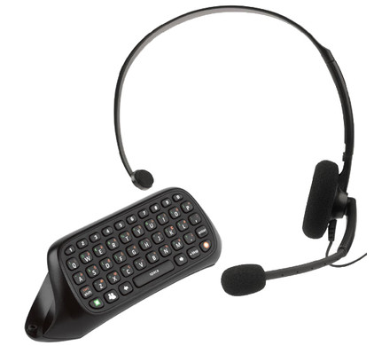 Xbox 360 Chatpad & Headset Black