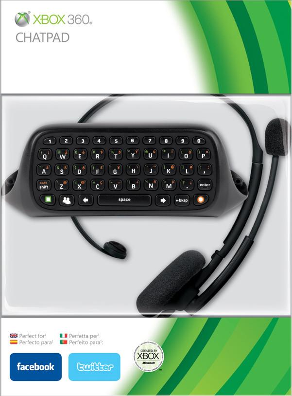 Xbox 360 Chatpad & Headset Black
