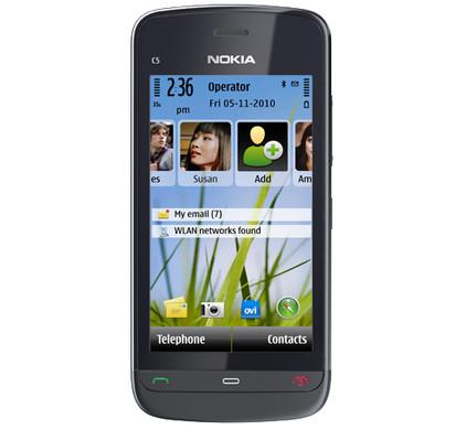 Nokia C5-03 Graphite Black + Autolader