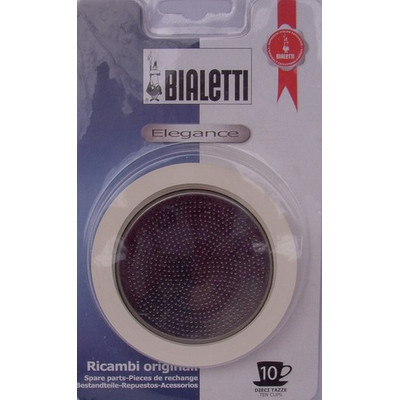 Image of Bialetti RVS Filterplaatje + Rubber Ring 10 kopje