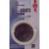 Bialetti RVS Filterplaatje + Rubber Ring 10 kopje