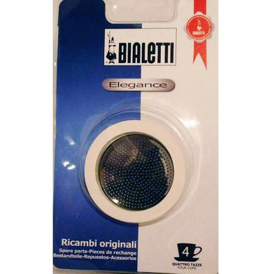 Bialetti RVS Filterplaatje + Rubber Ring 4 kopje