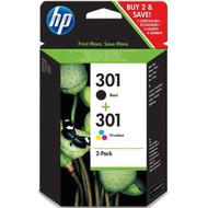 HP 301 Ink Cartridge Combo-pack (N9J72AE)