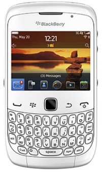 BlackBerry Curve 9300 White QWERTY
