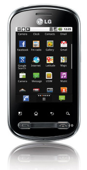 LG Optimus Me P350 Black Silver