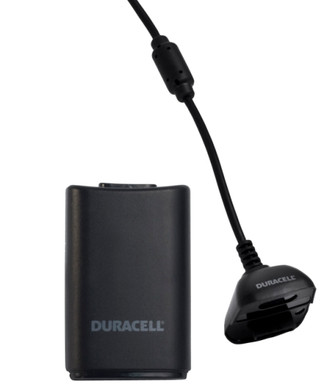 Duracell Play & Charge Kit Black Xbox 360
