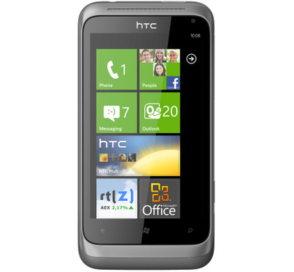 HTC Radar + Screenprotector + Case