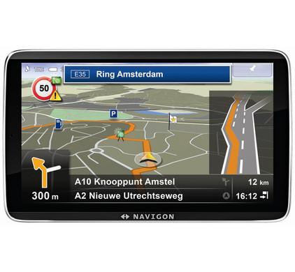 Navigon 92 Premium + Tas + Thuislader + Dashboard Donut