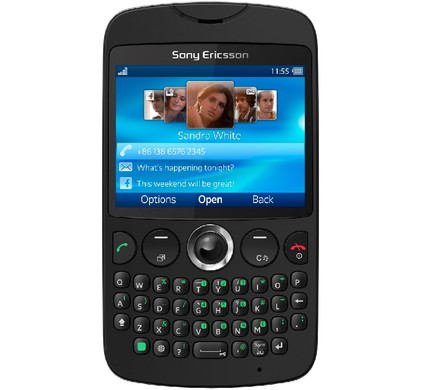 Sony Ericsson TXT Black QWERTY