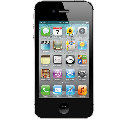 Apple iPhone 4S 16 GB Black + Screenprotector + Case
