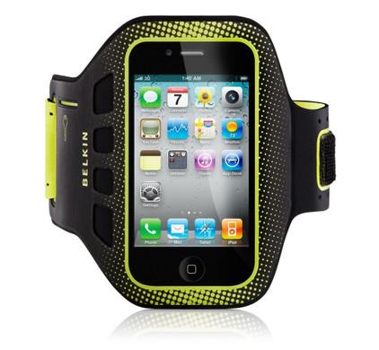 Belkin EasyFit Sport Armband Apple iPhone 4 / 4S Zwart/Groen