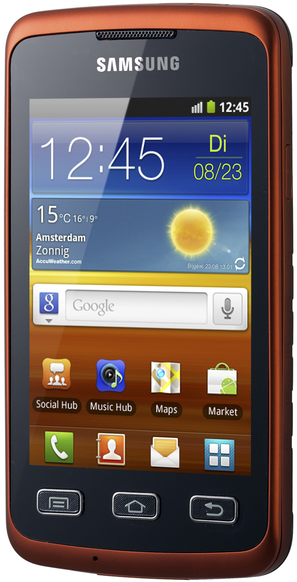 Samsung Galaxy Xcover S5690 Orange Black