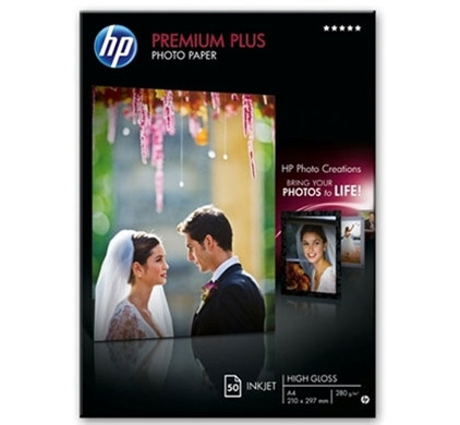 HP Premium Plus High Gloss Fotopapier 50 Vel A4 (300 g/m2)