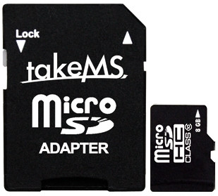 TakeMS microSD 8 GB SDHC (Class 10) + Adapter