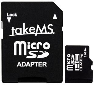 TakeMS microSD 8 GB SDHC (Class 10) + Adapter