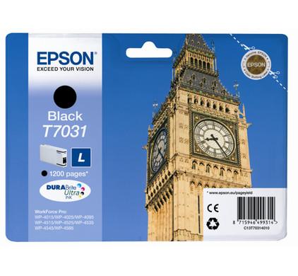 Epson T7031 Cartridge Zwart L (C13T70314010)