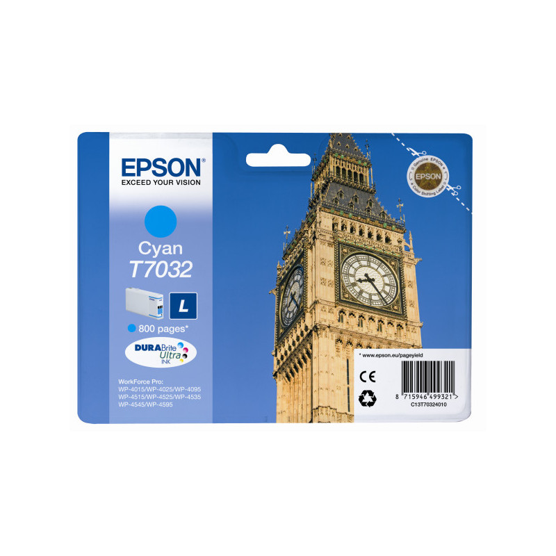 Epson T7032 Cartridge Cyaan L (C13T70324010)