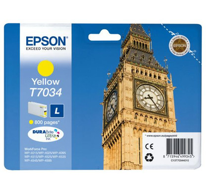 Epson T7034 Cartridge Geel L (C13T70344010)
