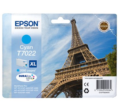 Epson T7022 Cartridge Cyaan XL (C13T70224010)