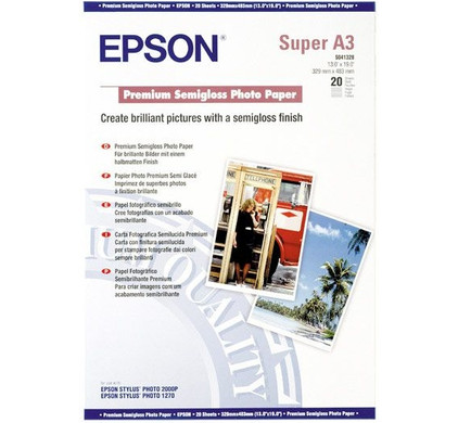 Epson Premium Semigloss Fotopapier 20 vel (A3+)