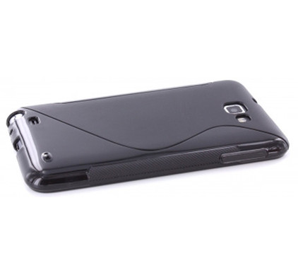Mobiparts Resin Case Black Samsung Galaxy Note