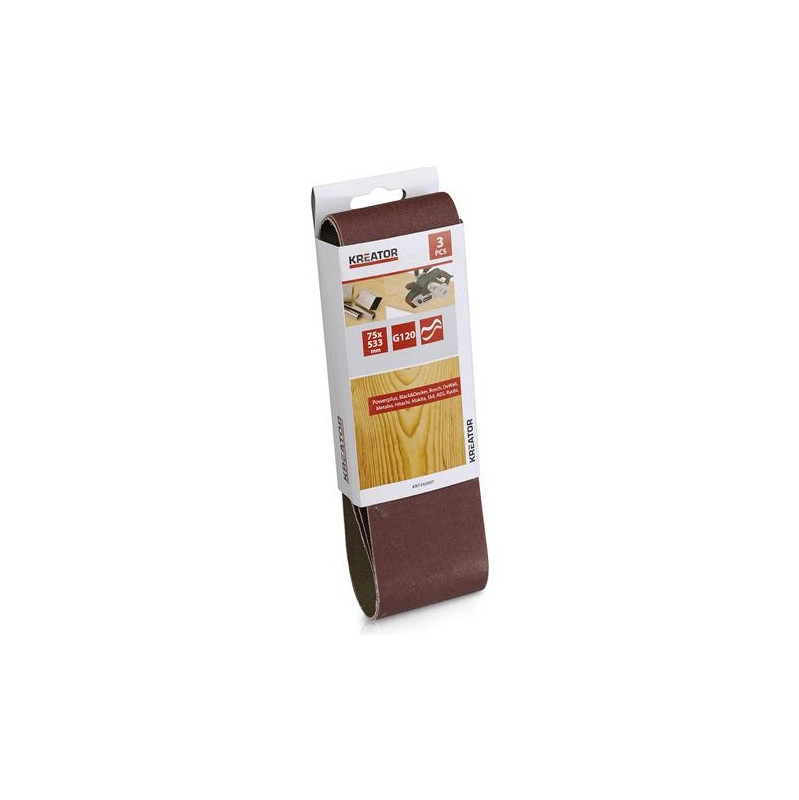Kreator Schuurband 75x533mm K120 (3x)
