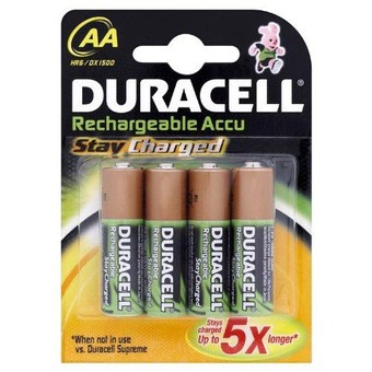 Duracell Rechargeable Stay Charged 4-pack AA