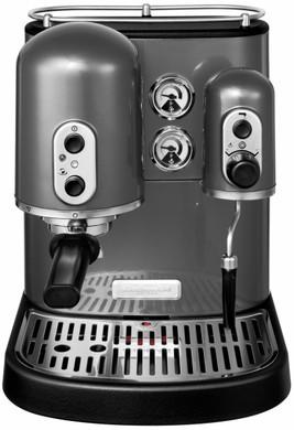 kitchenaid artisan espressomachine metaalgrijs coolblue. Black Bedroom Furniture Sets. Home Design Ideas