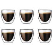 Bodum Pavina Dubbelwandig Glas 8 cl (6 stuks)