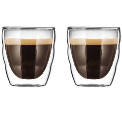Bodum Pilatus Dubbelwandig Glas 8 cl (2 stuks)