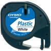 DYMO LetraTag Lettertape Plastic Zwart op Wit (12mm x 4m)