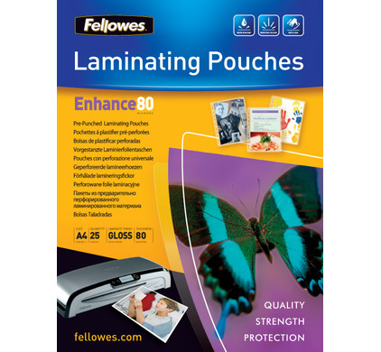 Fellowes Lamineerhoezen Enhance 80 mic A4 (25 Stuks)