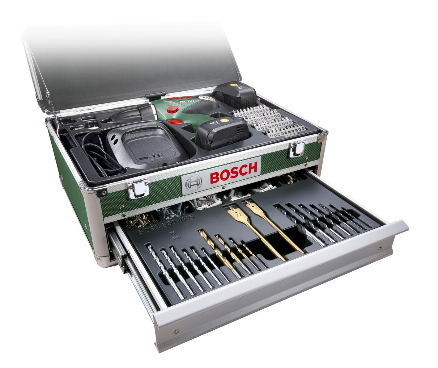 Bosch psr 18 li 2 241 delige toolbox - Bosch psr 18 li 2 ...