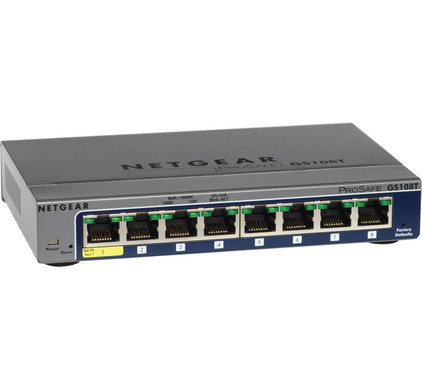 Netgear GS108Tv2 8-Poorts PoE Smart Switch