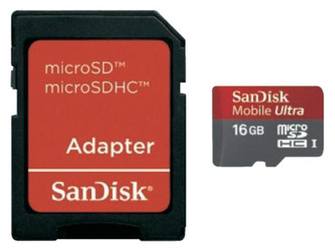SanDisk Micro SDHC 16 GB Ultra + SD Adapter