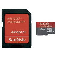 SanDisk Micro SDHC 16 GB Ultra + SD Adapter