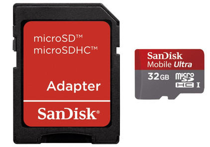 SanDisk Micro SDHC 32 GB Ultra + SD Adapter