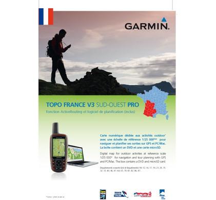 Garmin TOPO Frankrijk V3 Pro - Zuidwest