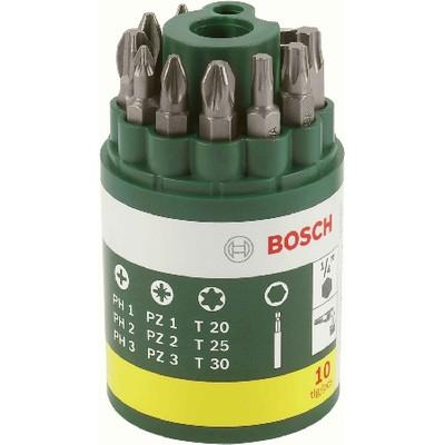 Image of Bitset 10-delig Bosch Promoline 2607019452 Kruiskop Phillips, Kruiskop Pozidriv, Torx