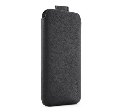 Belkin Leather Pull Case Apple iPhone 5/5S/SE Black