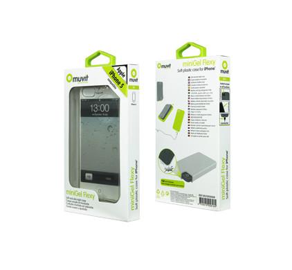 Muvit Minigel Case Apple iPhone 5 Transparant