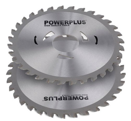 Powerplus zaagbladen 125mm 32T (2x)