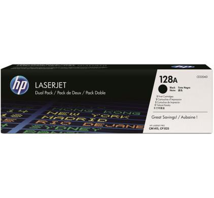 HP 128AD LaserJet Toner Zwart Dual Pack (CE320AD)