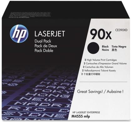 HP 90XD LaserJet Toner Zwart Dual Pack (CE390XD)