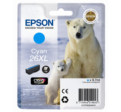 Epson 26 XL Cartridge Cyaan (C13T26324010)